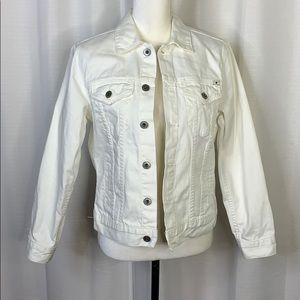 Lucky Brand Denim White Trucker Jacket
